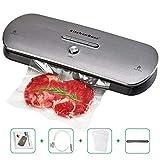 KitchenBoss Envasadora Máquina Selladora de Vacío para Alimentos Secos y Húmedos Preservación Sistema de Sellado Automático por Vacío,Luces...