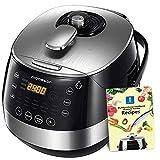 Aigostar Happy Chef 30IWY – Robot de cocina multifunción, cocina a presión: 7 aparatos en uno, 15 funciones, panel led, 900W, 5L,...